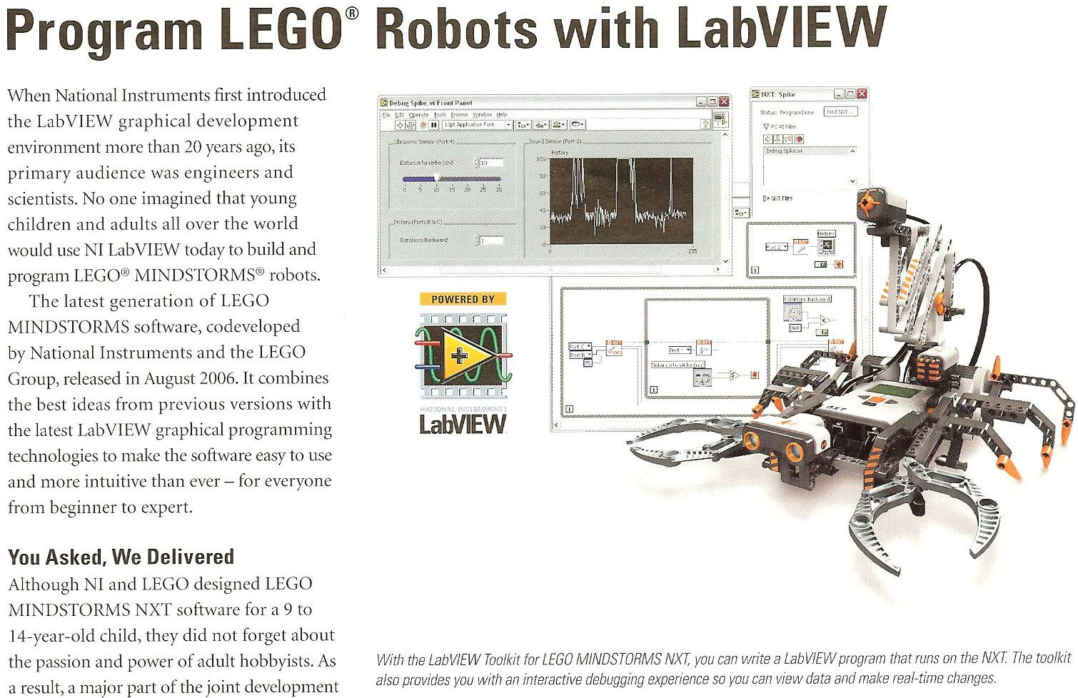 National instruments the moehrings 21506 lego and national instruments has just announced its cooperative development of the mindstorm nxt kit set to release in august 2006 asfbconference2016 Choice Image